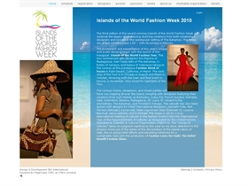 Islands of the World Fashion Week - New website on PageTypes CMS
