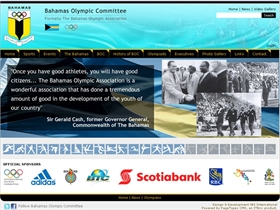 Bahamas Olympic Committee - New website on PageTypes CMS
