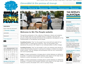We The People Bahamas - New website on PageTypes CMS