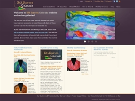 Silk Scarves Colorado website redesign