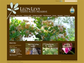 Leon Levy Native Plant Preserve - New website on PageTypes CMS