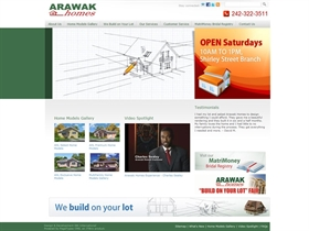 Arawak Homes - New website on PageTypes CMS